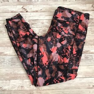 Lululemon floral fast and free 7/8 leggings